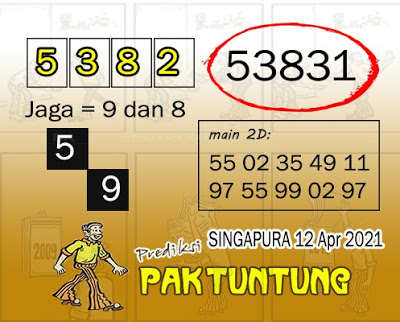 Syair SGP 12 April 2021