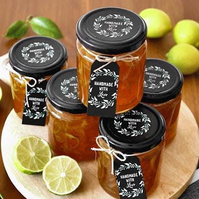 Recette Marmelade de Citron Vert et Etiquettes-Cadeaux Imprimables