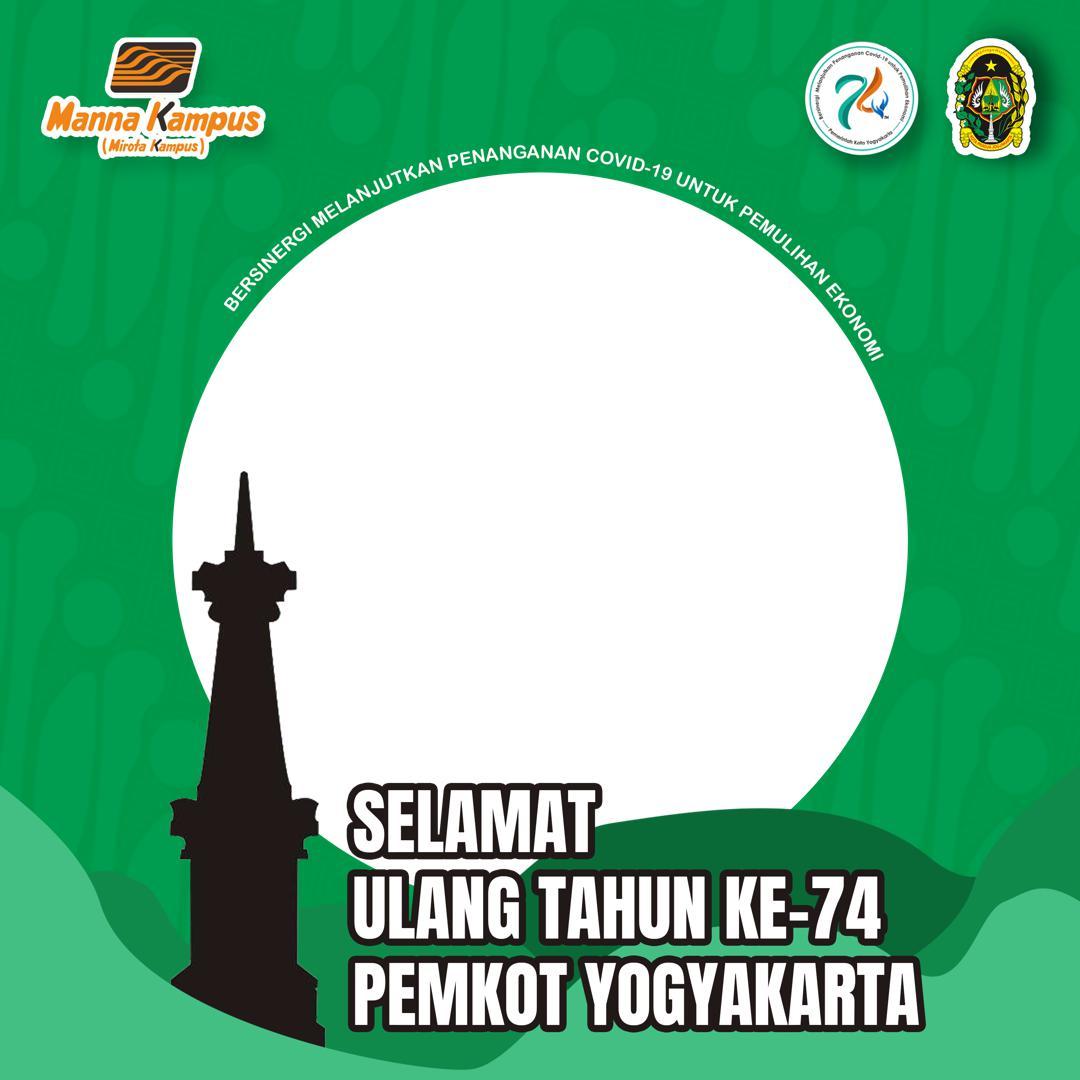 Template Frame Bingkai Twibbon Ucapan Selamat Ulang Tahun ke-74 Pemkot Yogyakarta