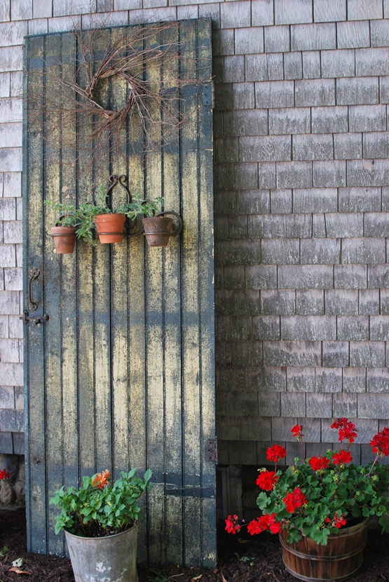 My Primitive Heart-Decorating Ideas & more: Re-Purposed Old Door ...