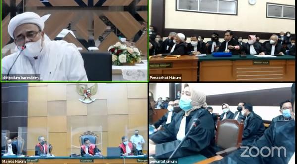 Bersikeras Hadir Langsung Bikin Sidang Habib Rizieq Memanas