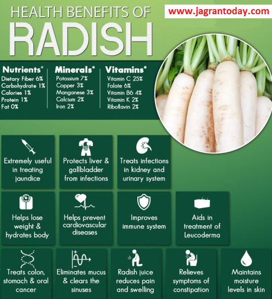 Eat Radish for Ear Problem