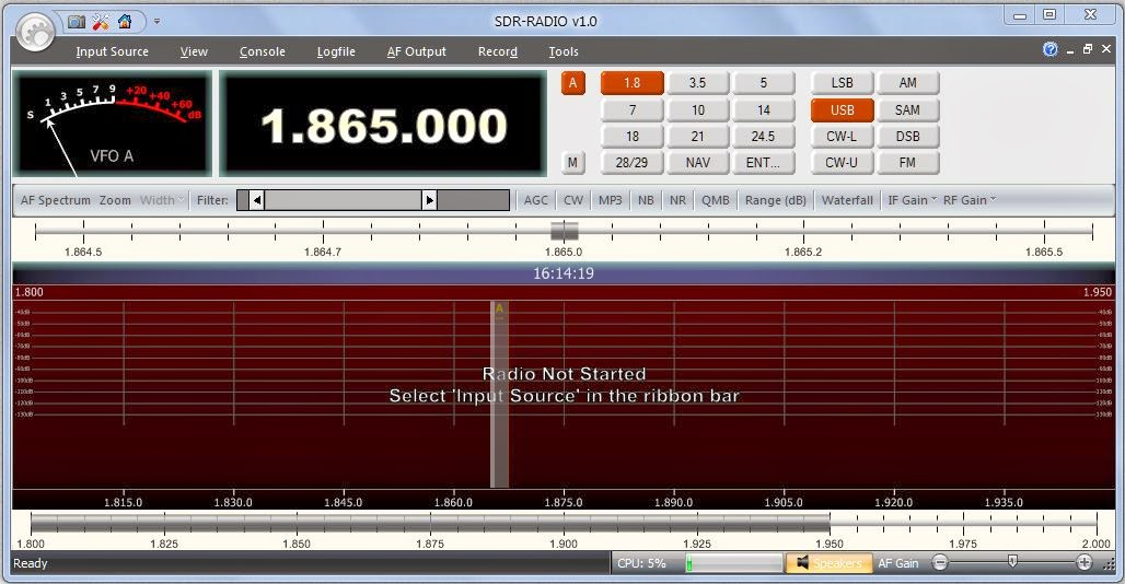 Sdr radio software   Gqrx SDR  2019-03-20
