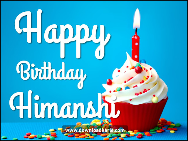 Happy Birthday Himanshi Cake and Candle