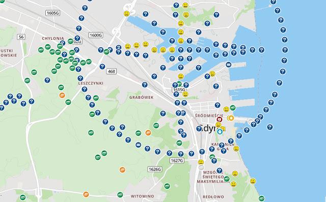Mapa skrytek w Gdyni