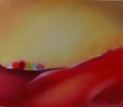 Óleo s/tela -Abstração para uma paisagem de Elma Carneiro