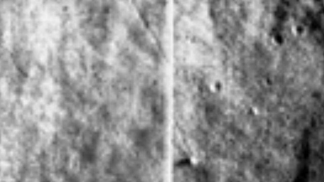 Two photos from the Moon put together wrong shows another craft leaving tracks in the Lunar dust.