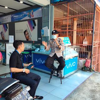 Personil Polsek Marang Himbau Disiplin Protokol Kesehatan Demi Mencegah Penularan Virus Corona