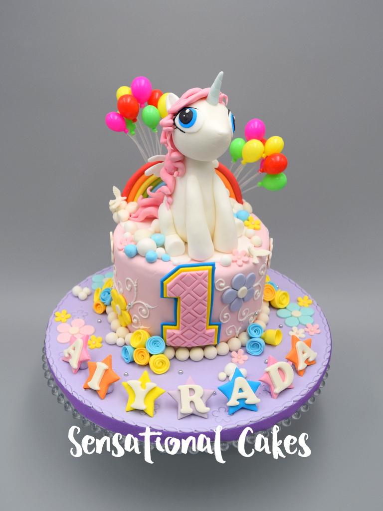 The Sensational Cakes Colorful Unicorn Girl Birthday
