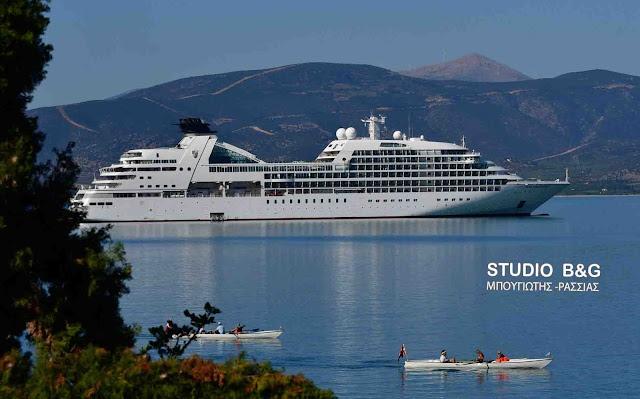 Το κρουαζιεροπλοιο Seabourn Odyssey στο Ναύπλιο με 450 επιβάτες (βίντεο)