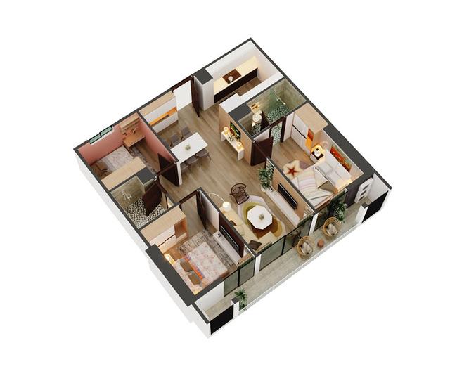Thiết kế thông minh tại căn hộ 3PN – An Bình Plaza