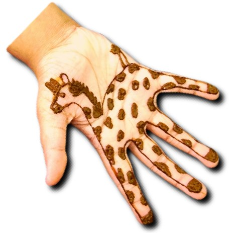 Giraffe Mehndi Design for Kids