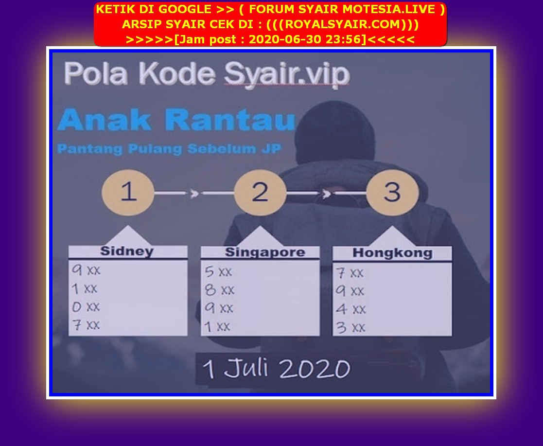 Kode syair Singapore Rabu 1 Juli 2020 256