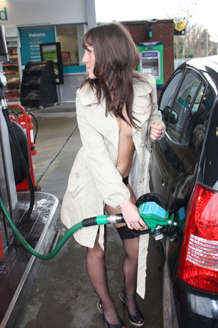 Public slut at gasstation