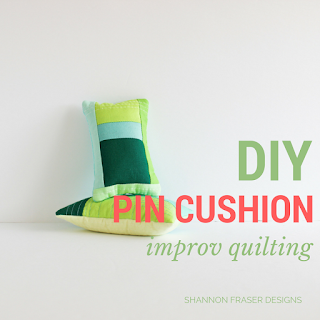 DIY Pin Cushion Tutorial | Shannon Fraser Designs #DIY #pincushion #quilting