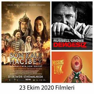 Vizyona Giren Filmler 23 Ekim 2020