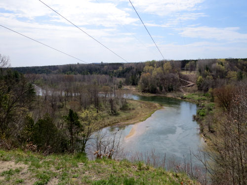 view of the Manistee River