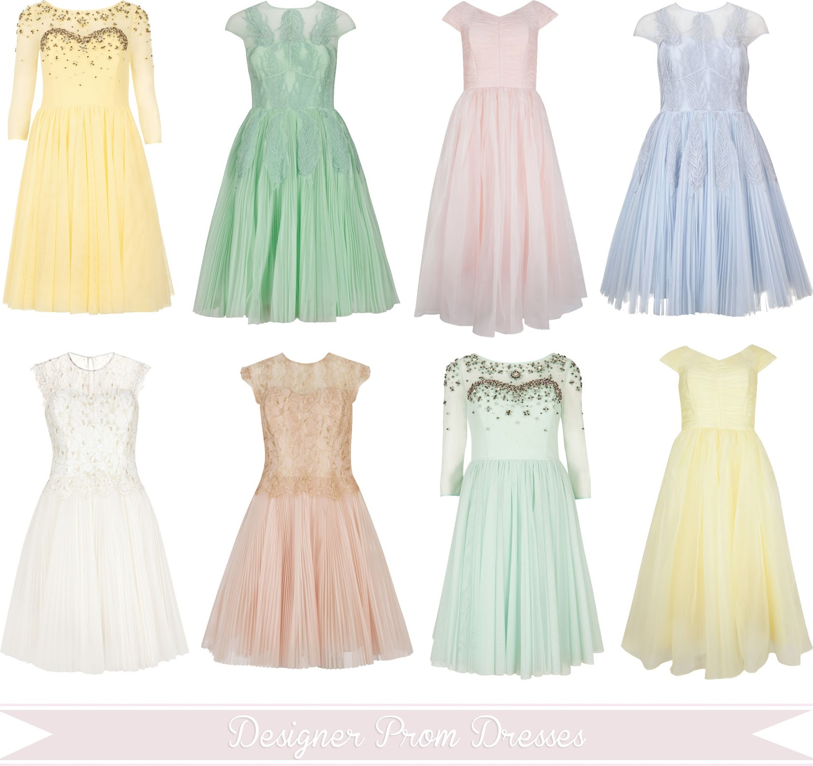 Pastel Colored Wedding Gowns: Designer Prom Dresses In Pastel Colours