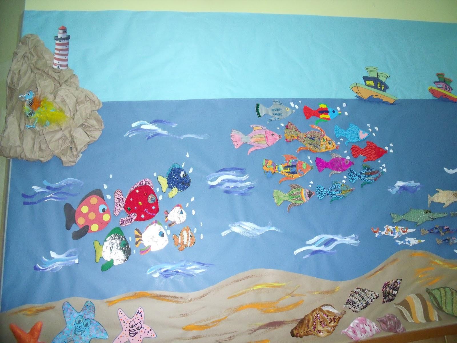 Valdellera infantil mural colectivo el mar - Murales para ninos ...