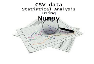 simple statistical analysis with csv data with Numpy