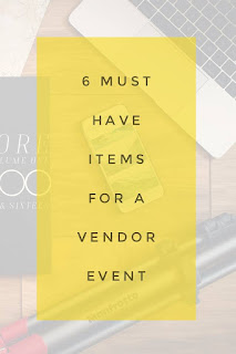 6 Must have items for a vendor event