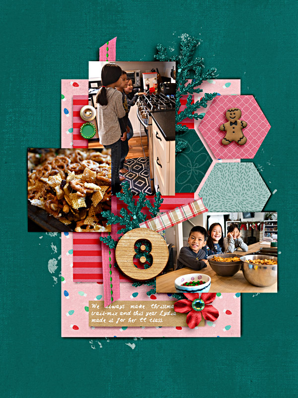 Memory 8 - Digital Scrapbook Christmas Page