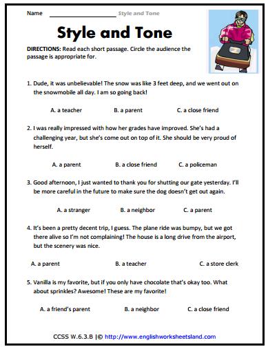 Identifying Tone Worksheet Free Worksheets Library ...
