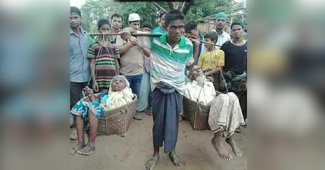 Guy Goes Viral for Carrying Old Parents in Basket for 7 Days to Seek Refuge in Bangladesh