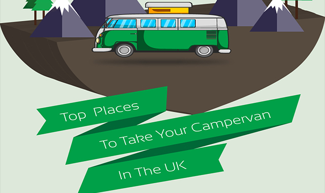 Top Places to Take Your Campervan in the Uk #infographic