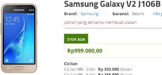 Harga Samsung Galaxy V2 J106B Android murah di Erafone