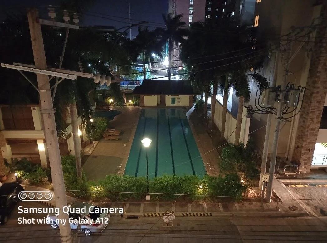 Samsung Galaxy A12 Camera Sample - Pool, Night