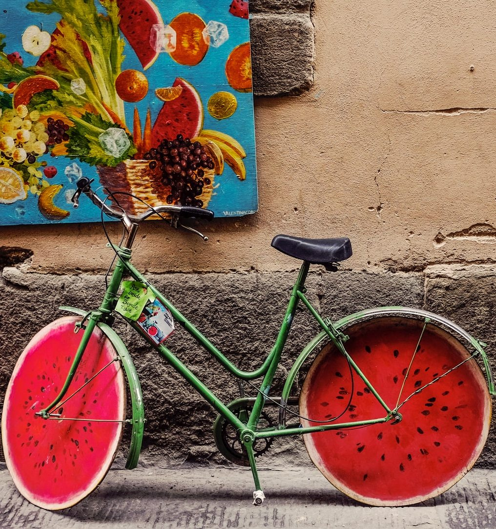 Funny bicycle.
