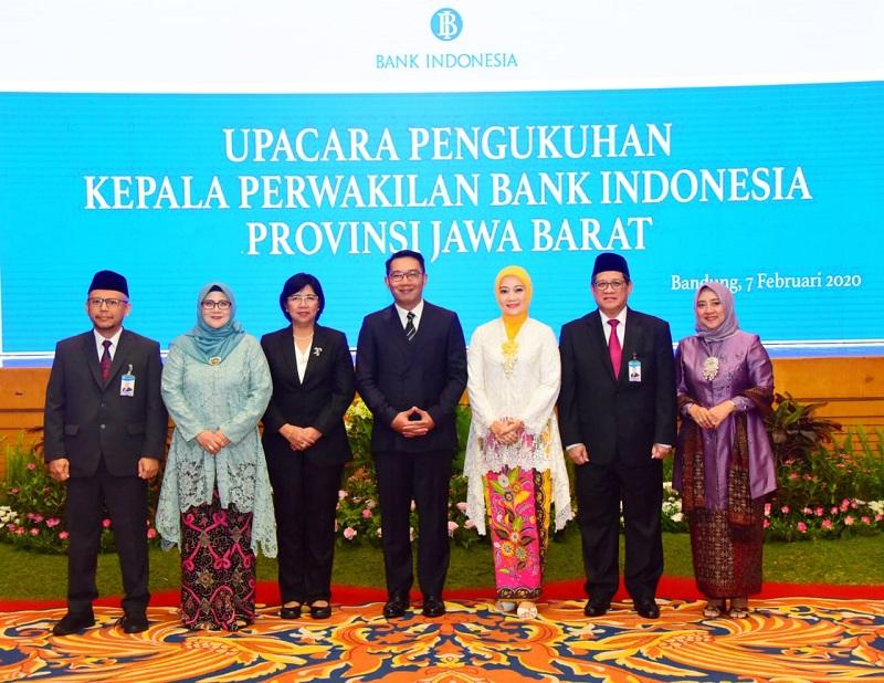 Kang Emil Hadiri Pengukuhan Perwakilan BI Jabar