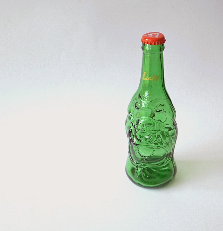 A bottle that is to be upcycled