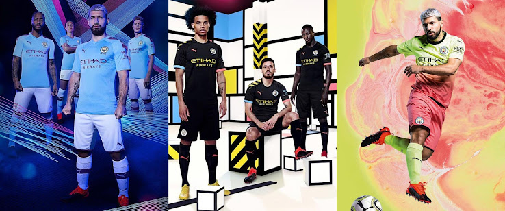 Puma Manchester City 19-20 Home, Away & Third Kits Released + 125th