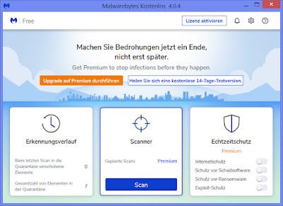 Malwarebytes Dashboard