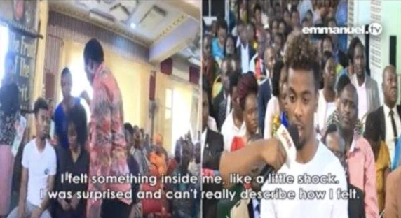 Angel Gomes Reacts After Old Video Of Him Receiving Healing At TB Joshua's Church Resurfaced Online