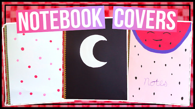 3 Notebook Cover Ideas | Polka Dot Notebook, Watermelon Notebook, & a Moon Notebook Cover