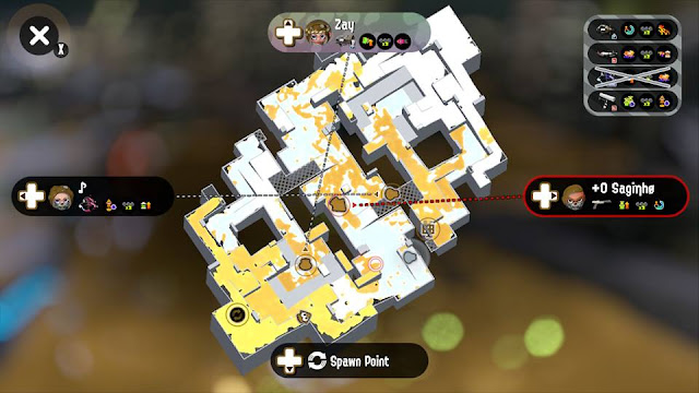 Splatoon 2 Splatfest map overview screen Family Friends white ink