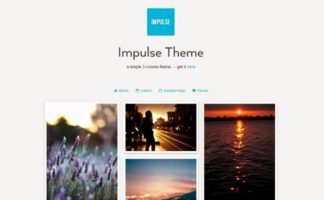 Impulse - Simple Three-Column Tumblr Theme