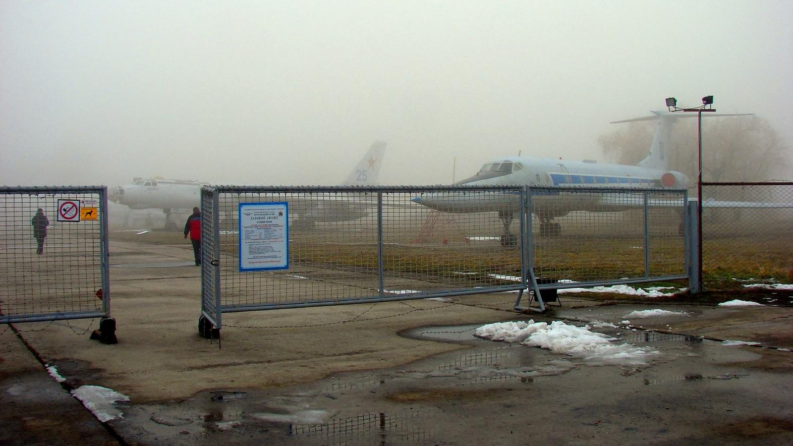 Вход в полтавский музей дальней авиации