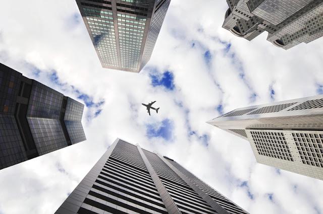 bangunan, tinggi, kapal terbang