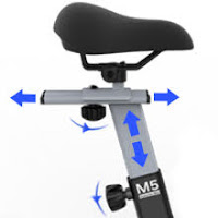 4-way adjustable seat on SNODE 8722 & 8731 Indoor Cycling Bike, image