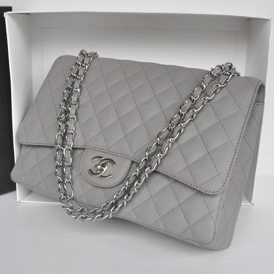Queen Maxima  - CHANEL A36098 Grey Bag