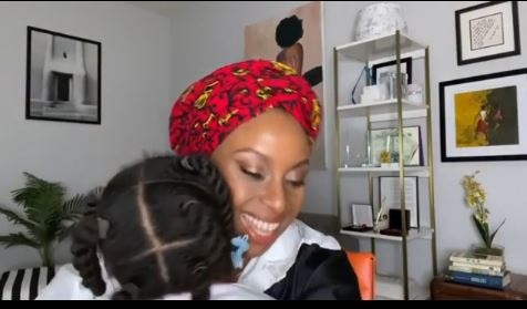 Wow! Chimamanda Adichie Lights Up Instagram With Adorable Video Of Her Hailing Her Daughter In Igbo