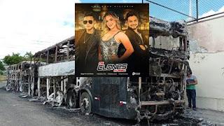 Ônibus da banda 'Os Clones' são destruídos em incêndio em Feira de Santana