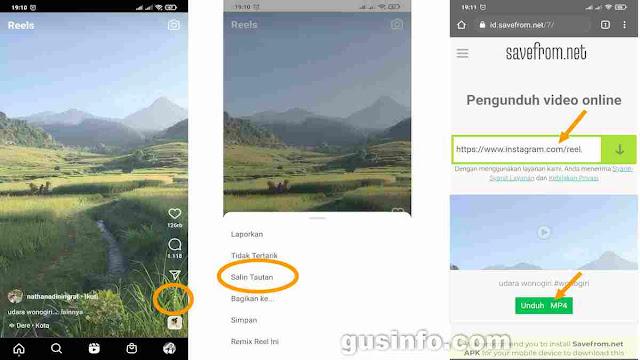 download video reel IG dari situs savefromnet