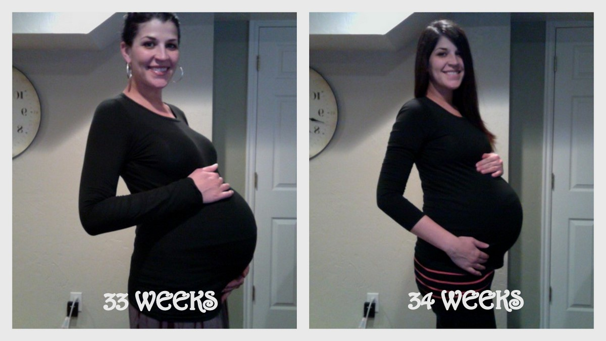 When I started showing at 17 weeks, I began taking my picture every week to  see how my belly progressed throughout my pregnancy. I didn't do extremely  well ...