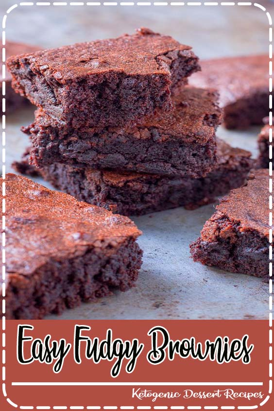 This easy brownie recipe calls for only  Easy Fudgy Brownies