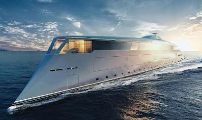 Konsep yacht mewah milik Bill Gates bernama Aqua